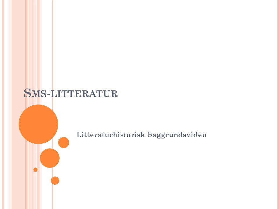 Litteraturhistorisk baggrundsviden