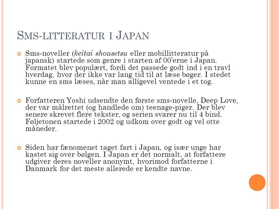 Sms-litteratur i Japan