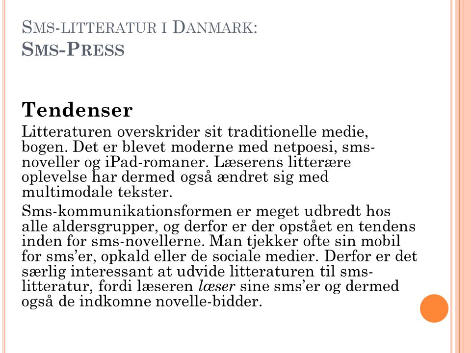 Sms-litteratur i Danmark: Sms-Press