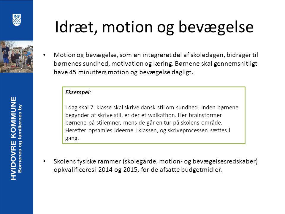 Idræt, motion og bevægelse