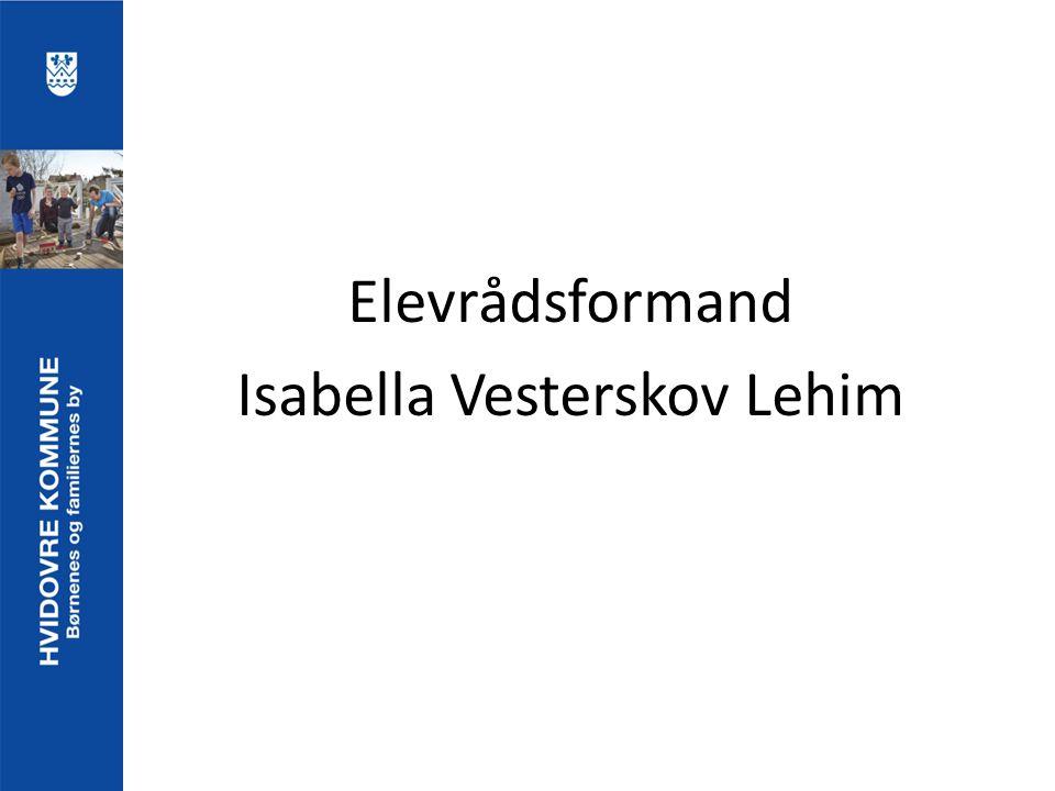 Elevrådsformand Isabella Vesterskov Lehim