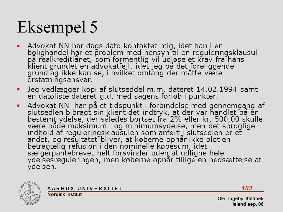 Stiltræk 08-04-2017. Eksempel 5.