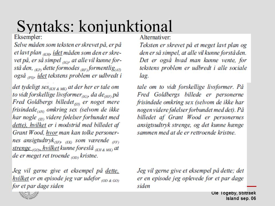 Syntaks: konjunktional