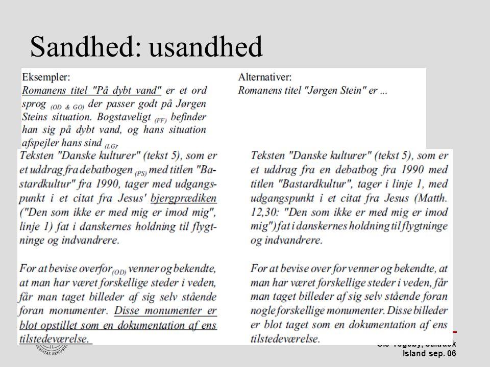 Stiltræk 08-04-2017 Sandhed: usandhed Island sep 06