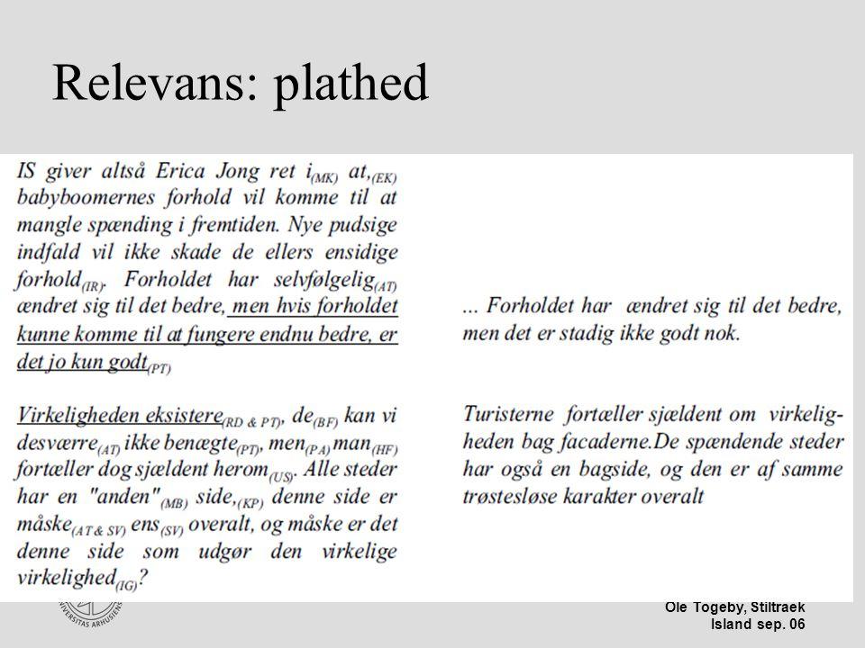 Stiltræk 08-04-2017 Relevans: plathed Island sep 06