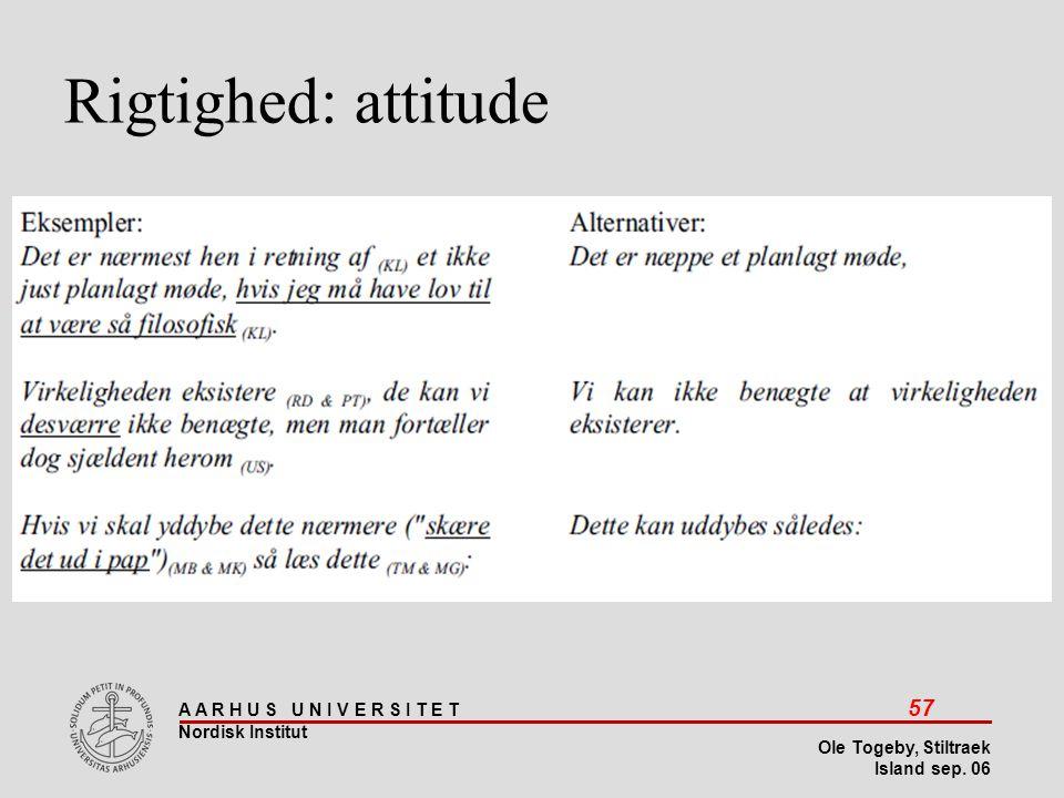 Stiltræk 08-04-2017 Rigtighed: attitude Island sep 06