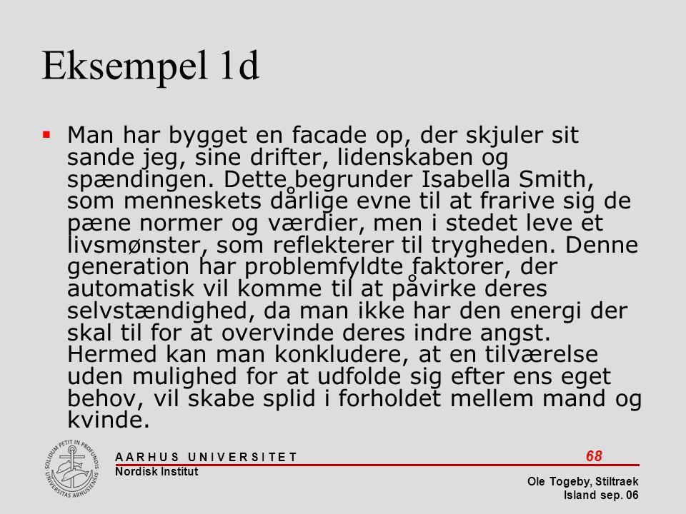 Stiltræk 08-04-2017. Eksempel 1d.