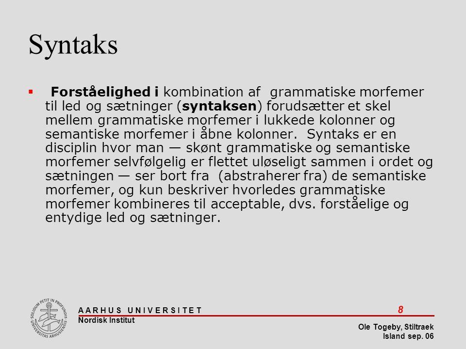 Stiltræk 08-04-2017. Syntaks.