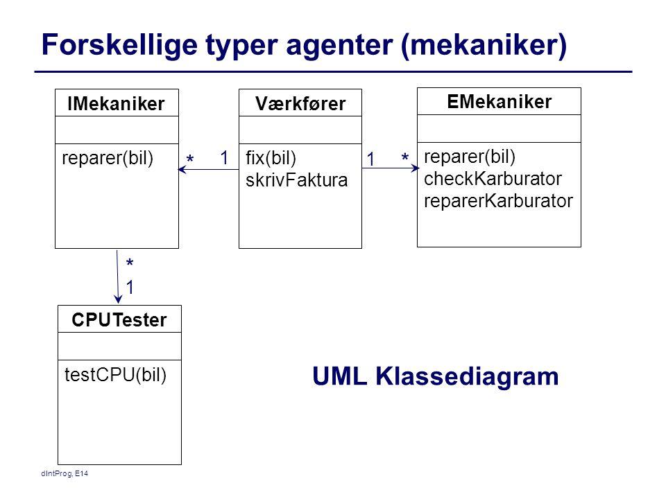 Forskellige typer agenter (mekaniker)