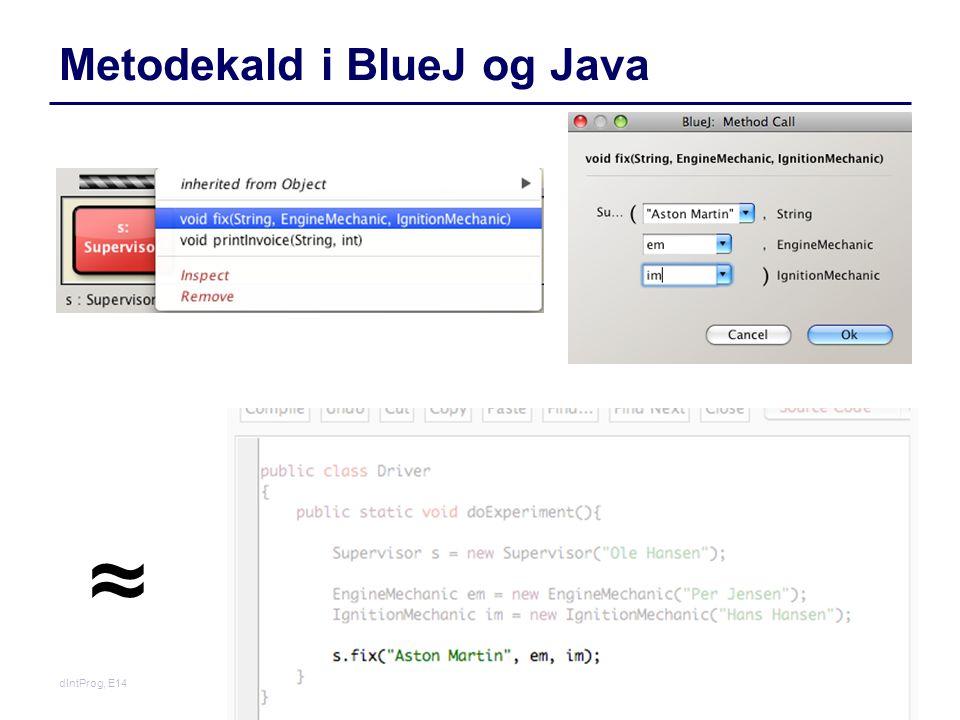 Metodekald i BlueJ og Java