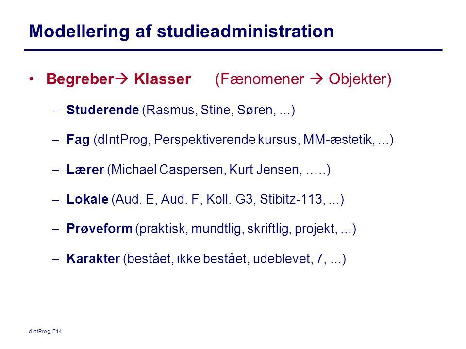 Modellering af studieadministration