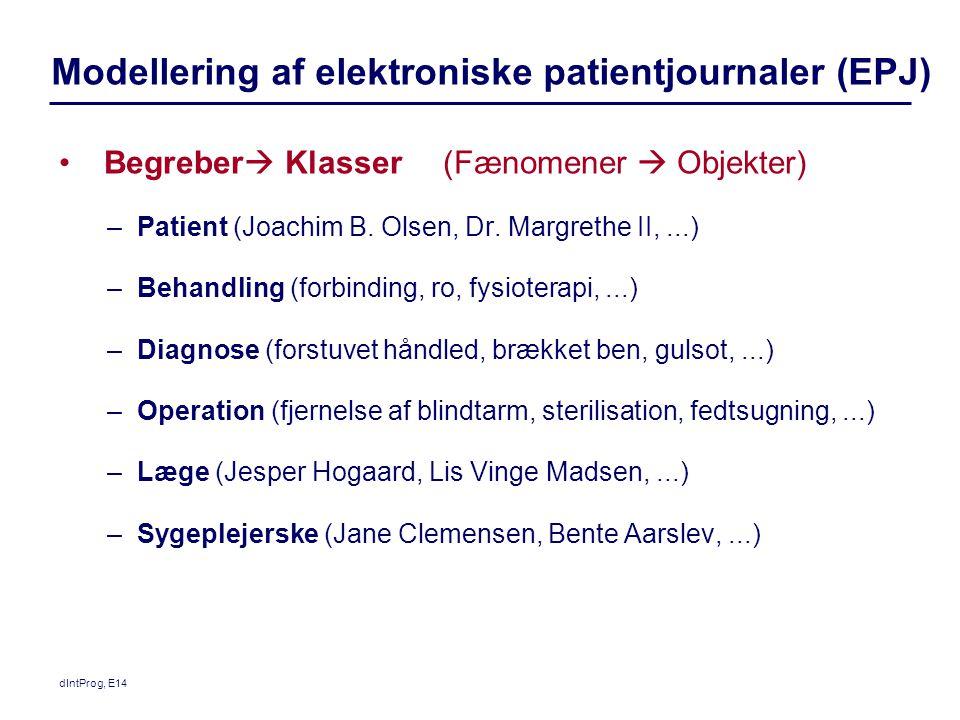 Modellering af elektroniske patientjournaler (EPJ)