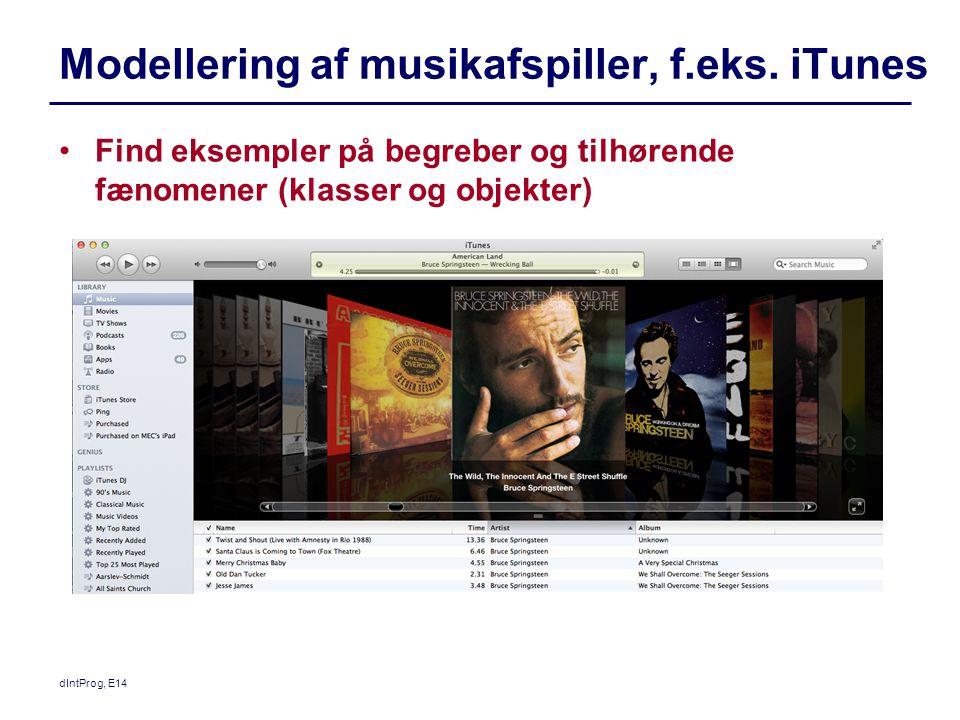 Modellering af musikafspiller, f.eks. iTunes