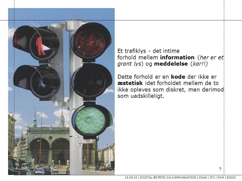 Et trafiklys - det intime