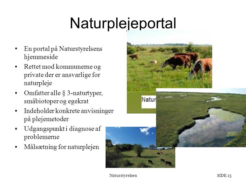 Naturplejeportal En portal på Naturstyrelsens hjemmeside