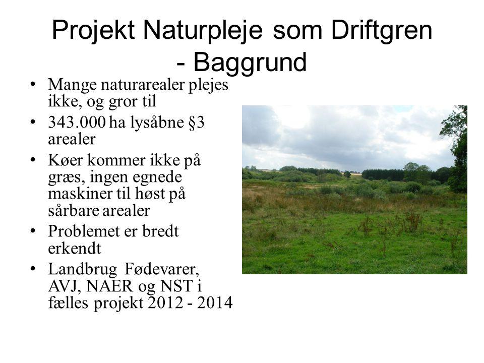 Projekt Naturpleje som Driftgren - Baggrund