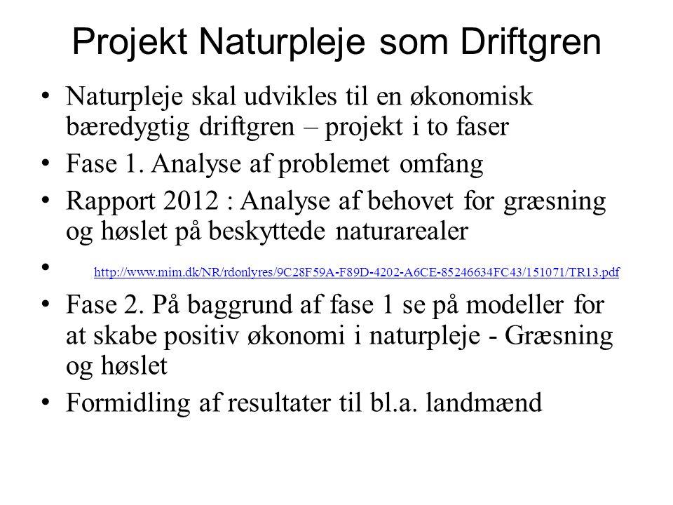 Projekt Naturpleje som Driftgren