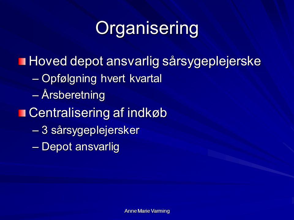 Organisering Hoved depot ansvarlig sårsygeplejerske
