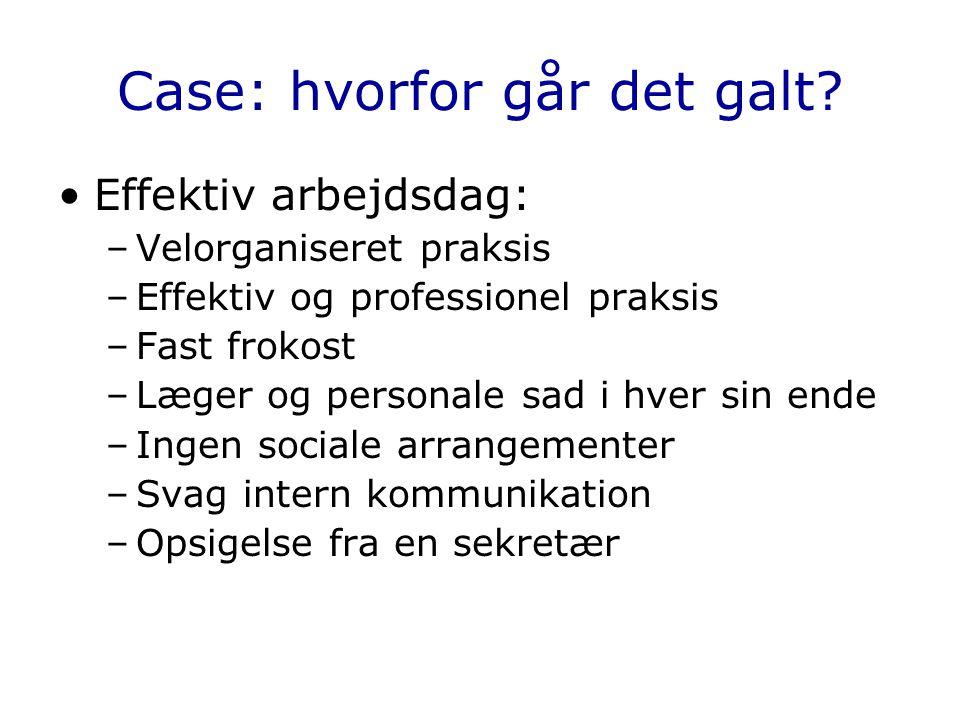 Case: hvorfor går det galt