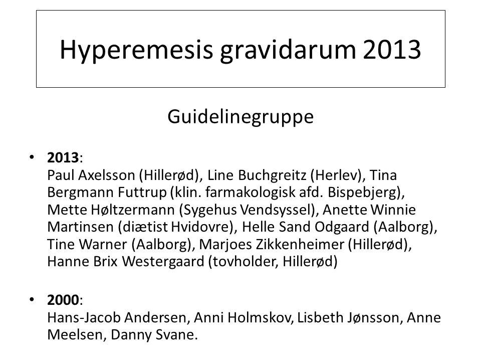 Hyperemesis gravidarum 2013