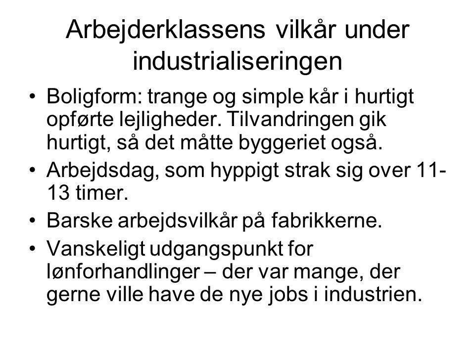 Arbejderklassens vilkår under industrialiseringen