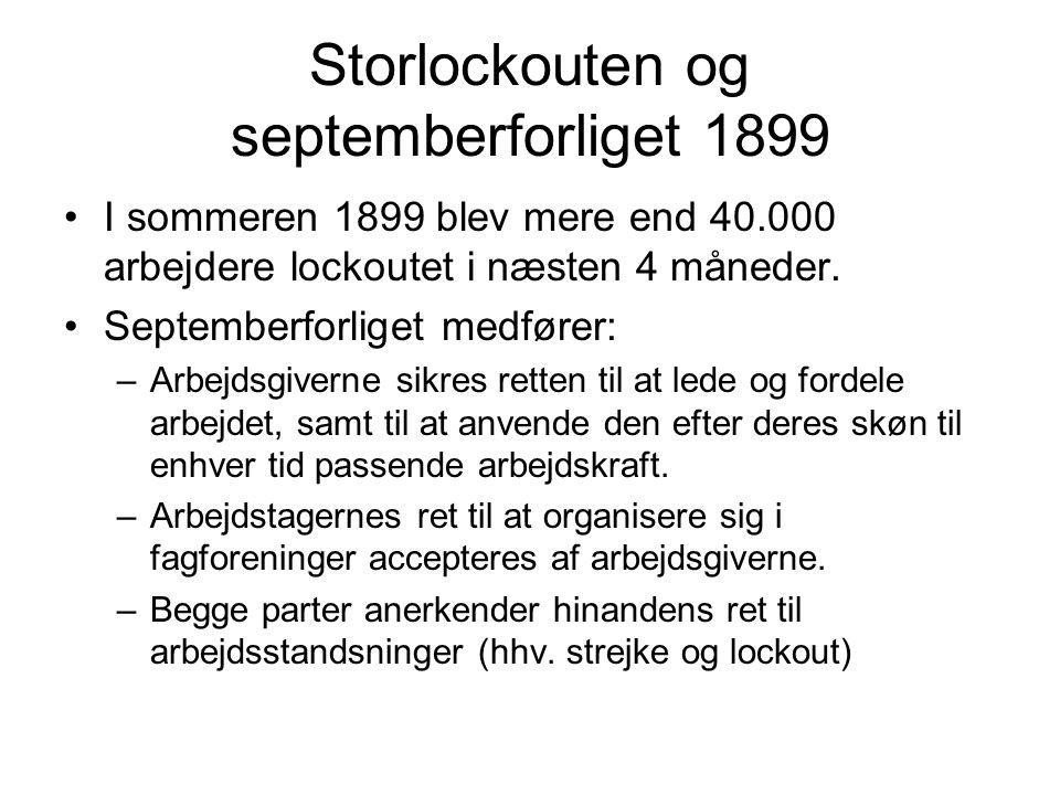 Storlockouten og septemberforliget 1899