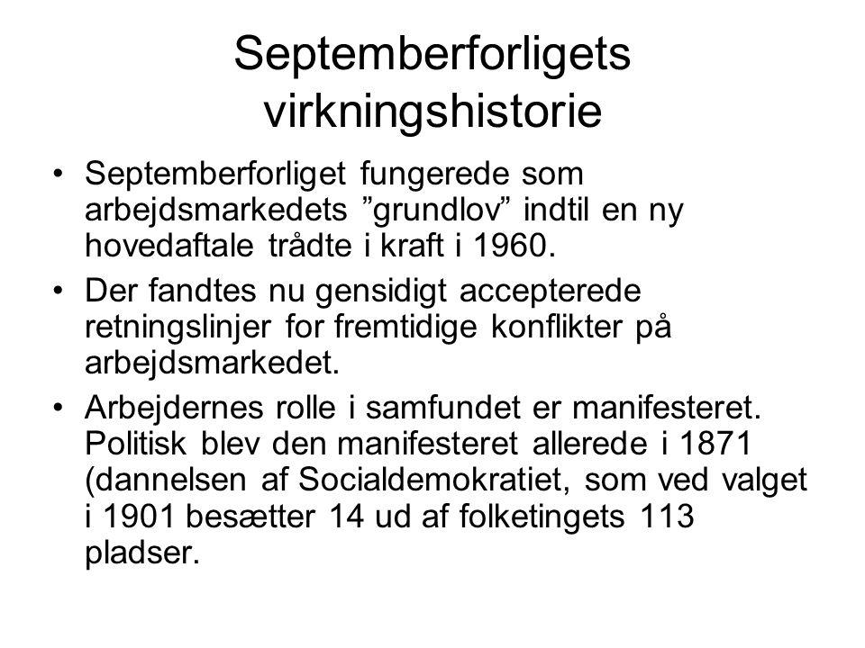 Septemberforligets virkningshistorie