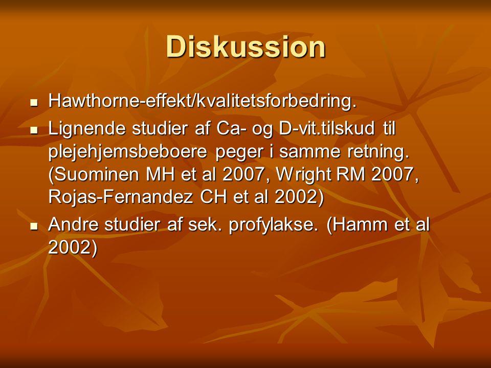 Diskussion Hawthorne-effekt/kvalitetsforbedring.