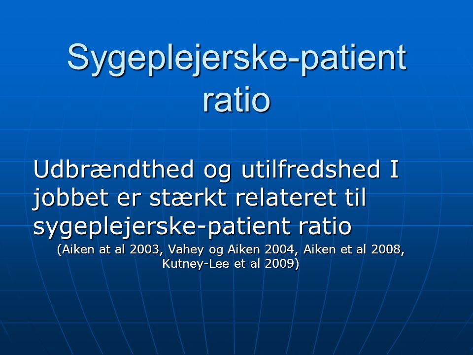 Sygeplejerske-patient ratio