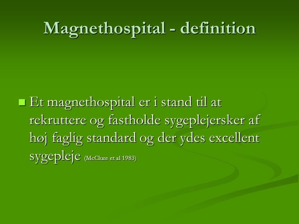 Magnethospital - definition