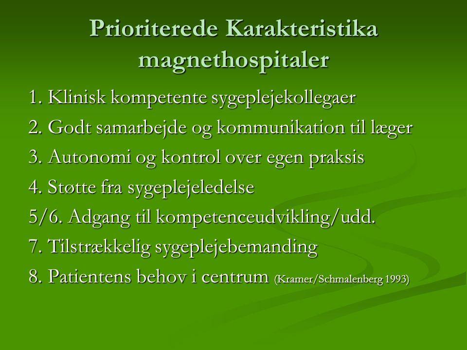 Prioriterede Karakteristika magnethospitaler