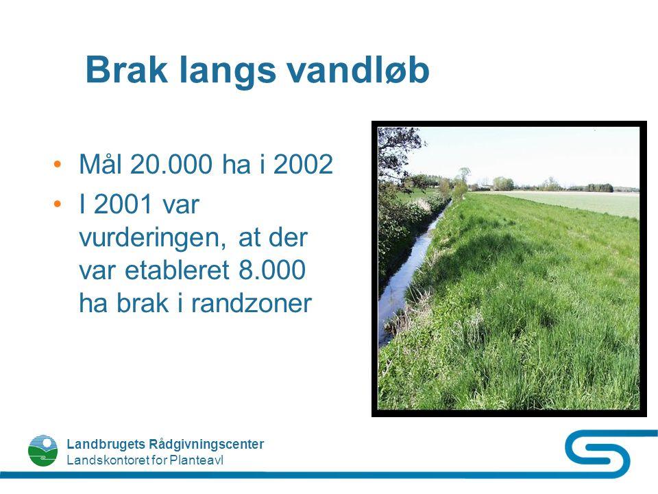Brak langs vandløb Mål 20.000 ha i 2002