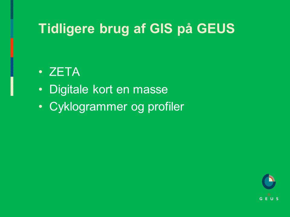 Tidligere brug af GIS på GEUS