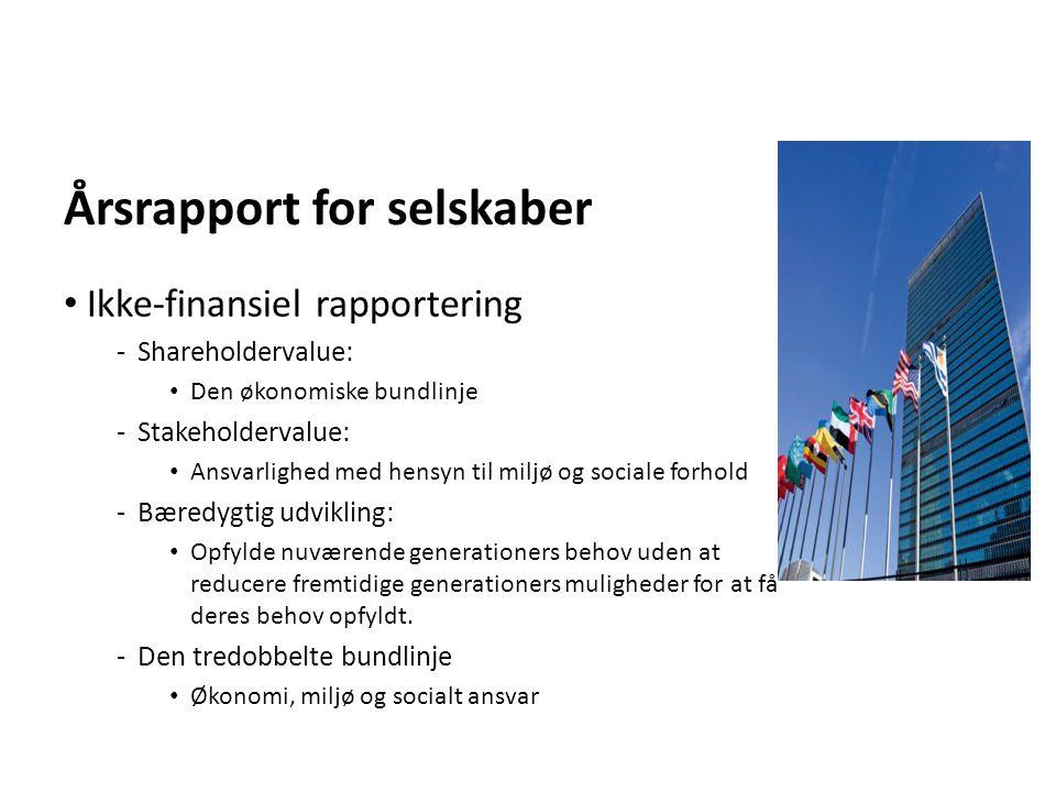 Årsrapport for selskaber
