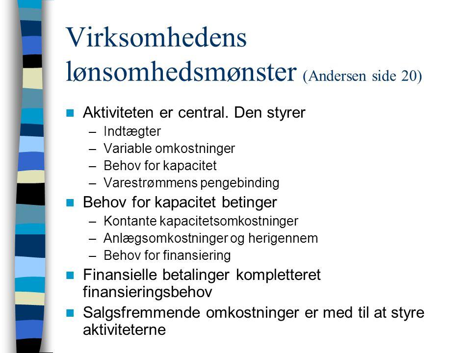 Virksomhedens lønsomhedsmønster (Andersen side 20)