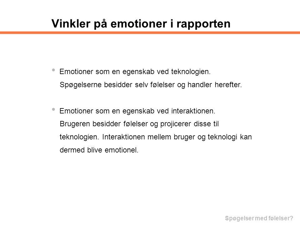 Vinkler på emotioner i rapporten