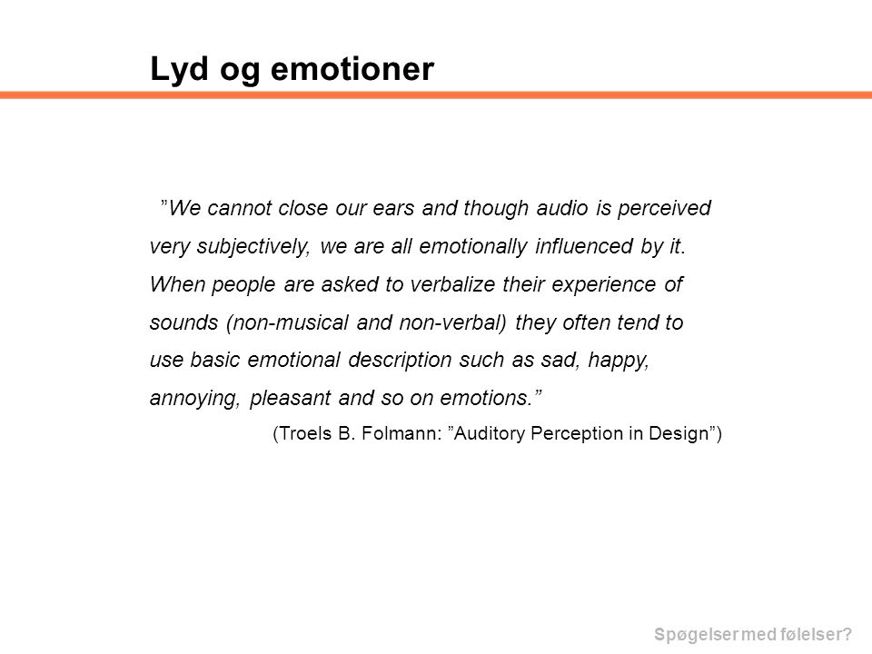 Lyd og emotioner