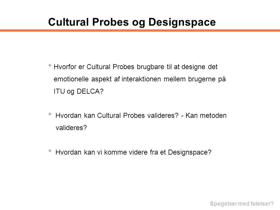 Cultural Probes og Designspace