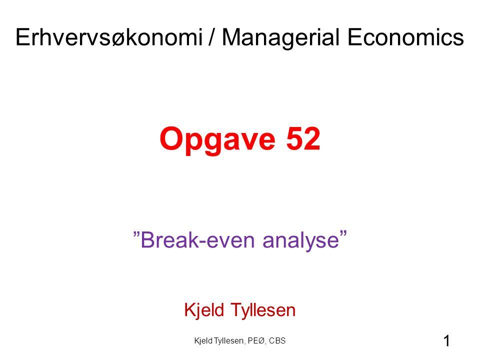Erhvervsøkonomi / Managerial Economics