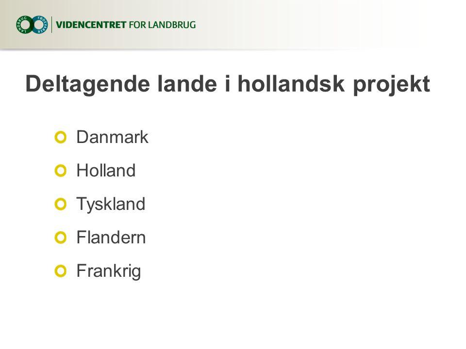 Deltagende lande i hollandsk projekt