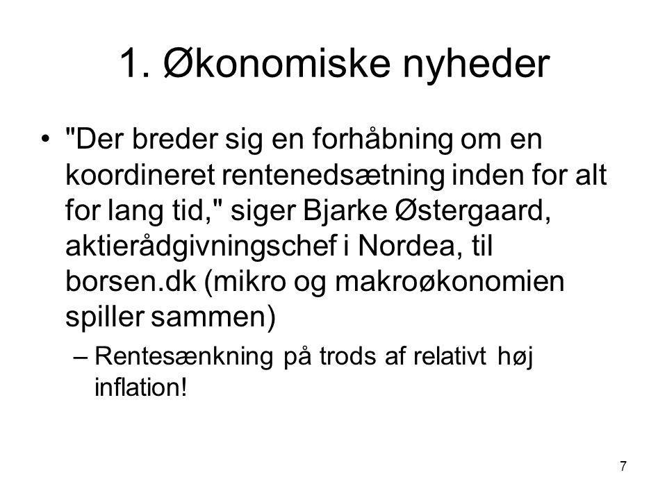 1. Økonomiske nyheder