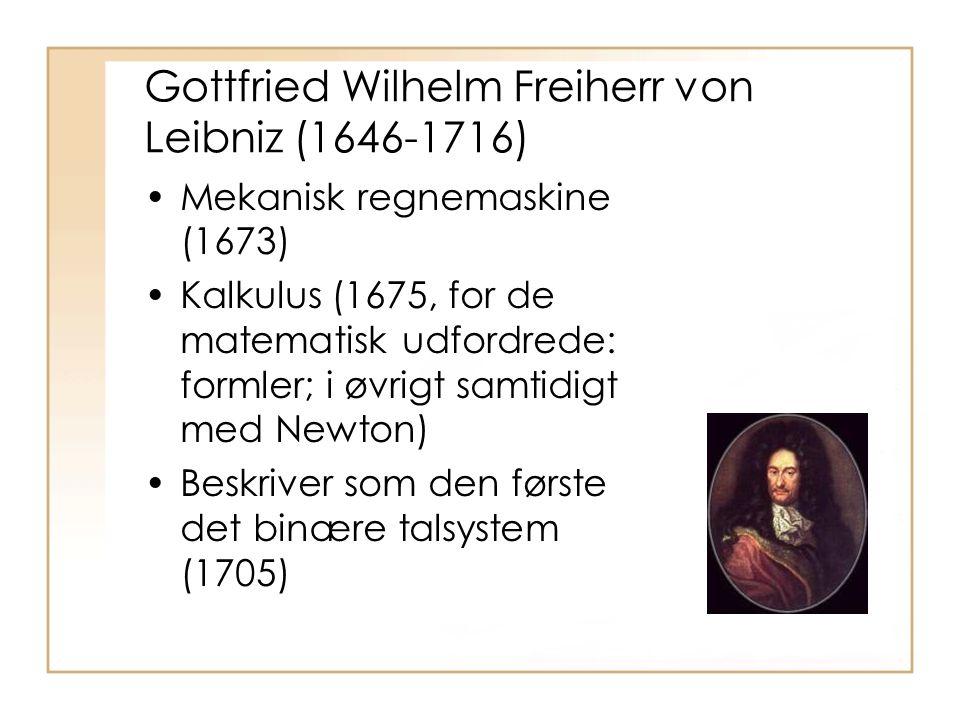 Gottfried Wilhelm Freiherr von Leibniz (1646-1716)