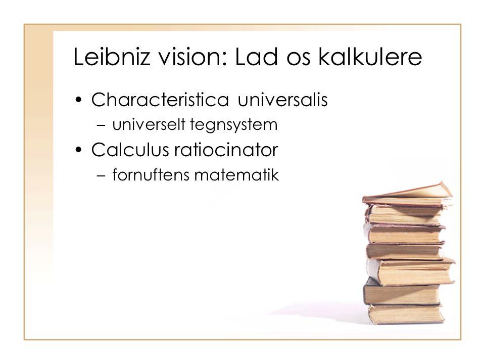 Leibniz vision: Lad os kalkulere