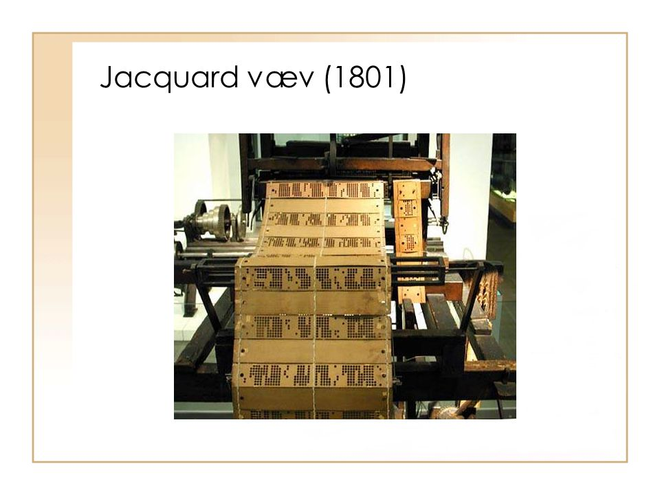 Jacquard væv (1801)