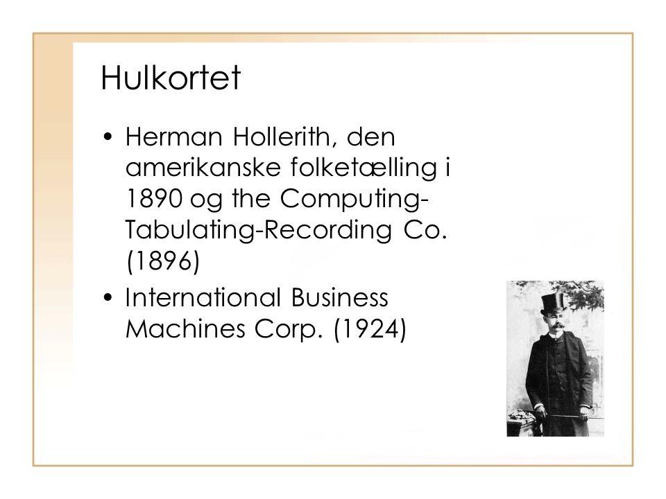 Hulkortet Herman Hollerith, den amerikanske folketælling i 1890 og the Computing-Tabulating-Recording Co. (1896)