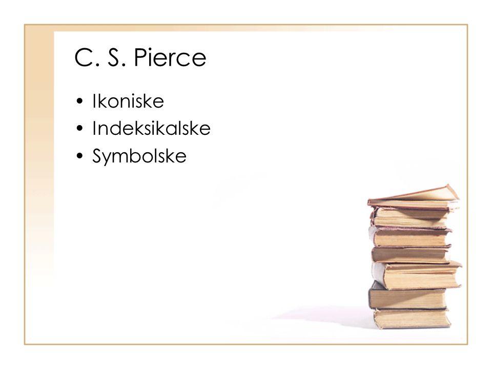 C. S. Pierce Ikoniske Indeksikalske Symbolske