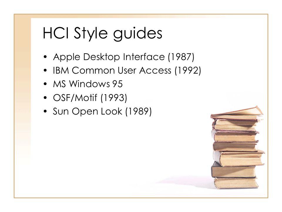HCI Style guides Apple Desktop Interface (1987)