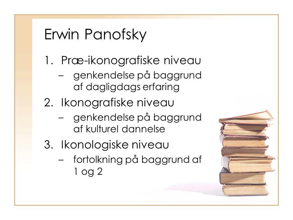 Erwin Panofsky Præ-ikonografiske niveau Ikonografiske niveau