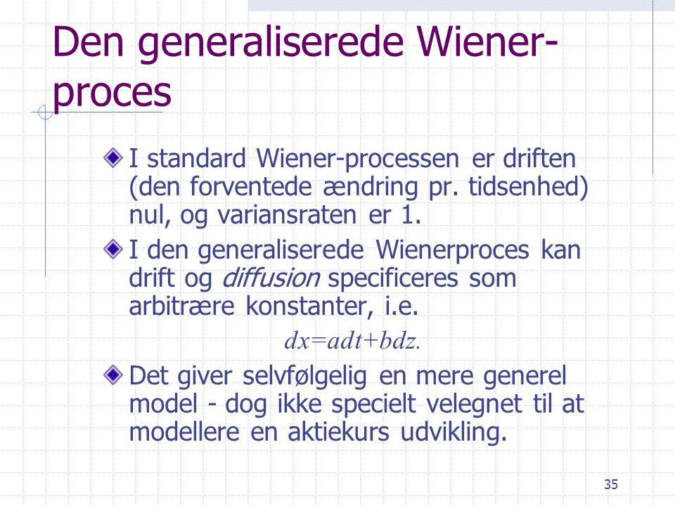 Den generaliserede Wiener- proces