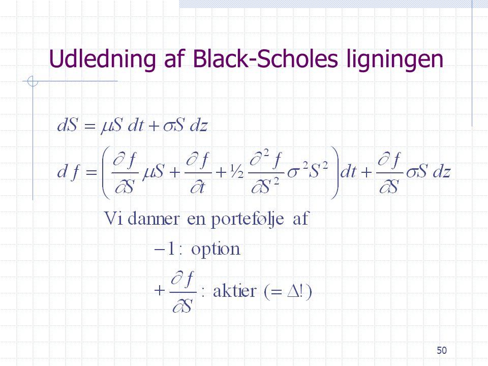 Udledning af Black-Scholes ligningen